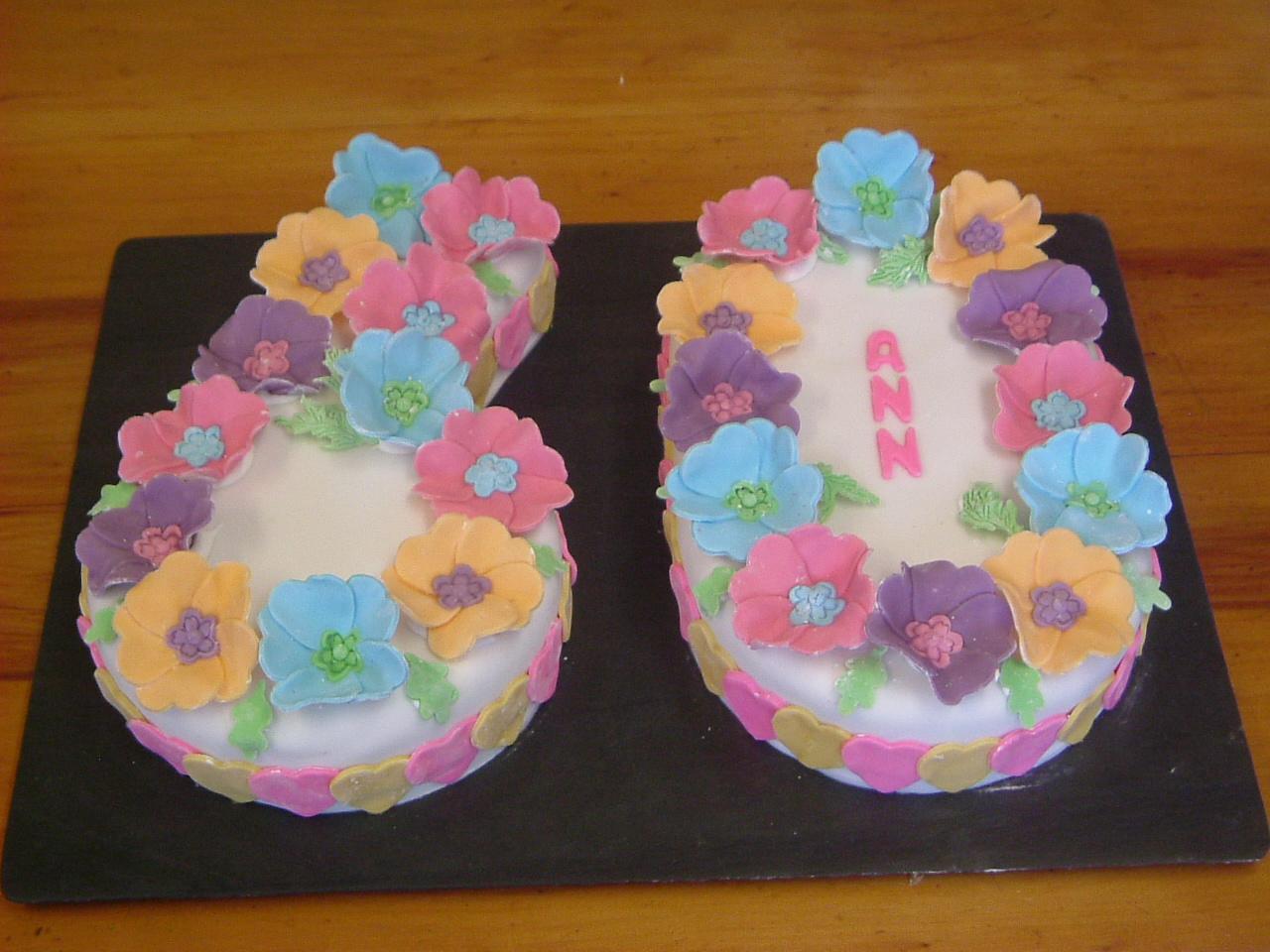 60th Birthday Cake Ann Foweraker