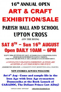 Book launch Upton cross poster Black &  Red & Blue