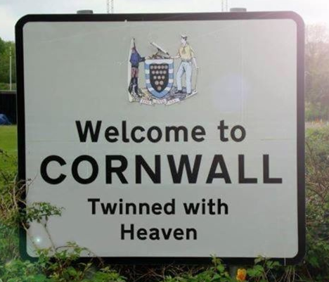 funny welcome to cornwall signs ann foweraker